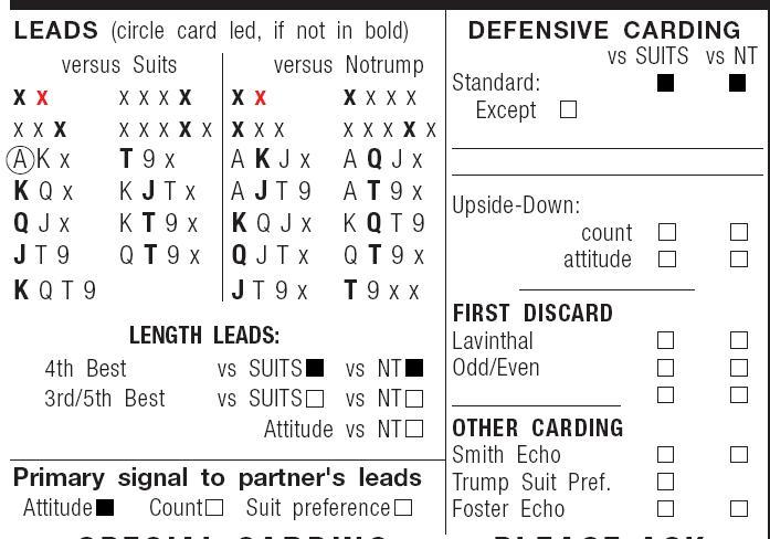 Lc Standard Carding